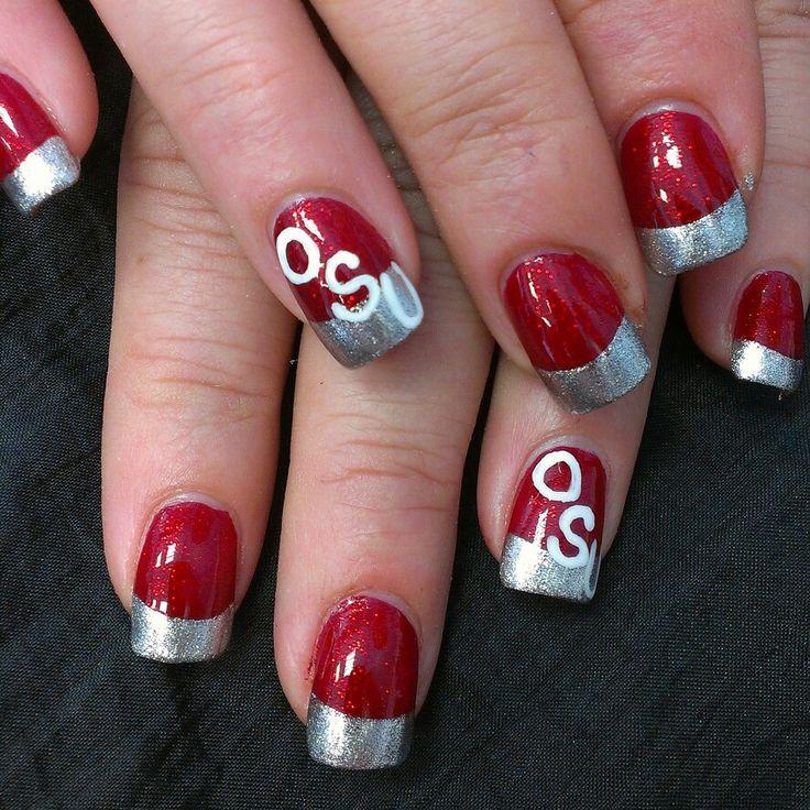 Ohio State Buckeye nails