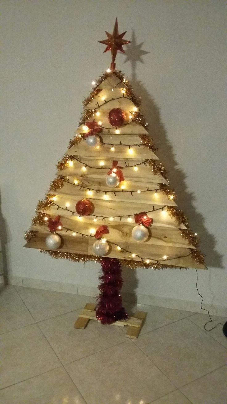 Christmas wooden tree diy