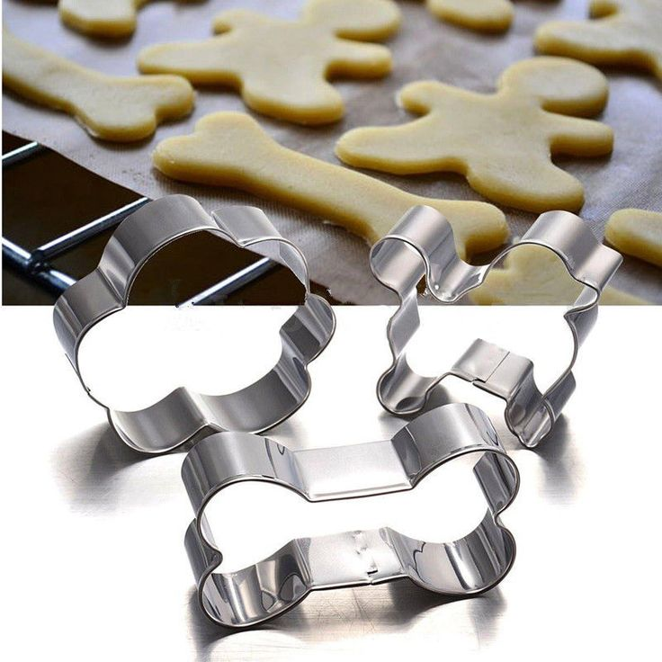 Stainless Steel Puppy Dog Bone Paw Shape Cookie Cake Cutter Baking Mould animal #UnbrandedGeneric