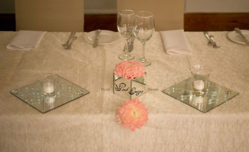 Main table - decor and floral elements added. Floral Design & Decor by www.pinkenergyfloraldesign.co.za