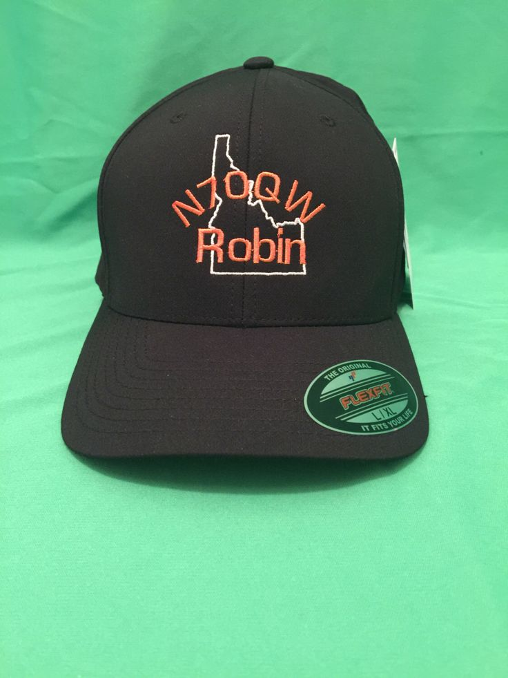 Personalized embroidered hat, hat embroidery, personalized hat, flex fit embroidery, custom hats, ham radio, sport team embroidery, flex fit by IdahoEmbroidery on Etsy https://www.etsy.com/listing/261264652/personalized-embroidered-hat-hat