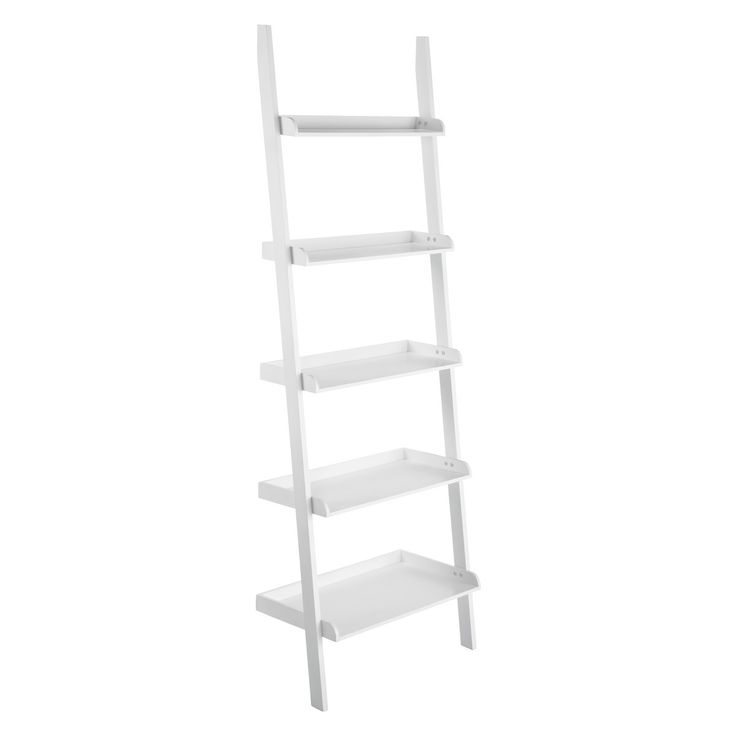 JESSIE White wide leaning bookcase | Buy now at Habitat UK
