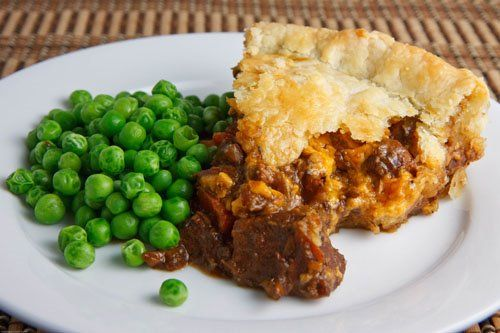 Steak and Guinness Pie - Kelli made this and put mashed potatoes on top instead. So good and no fooling with a crust!