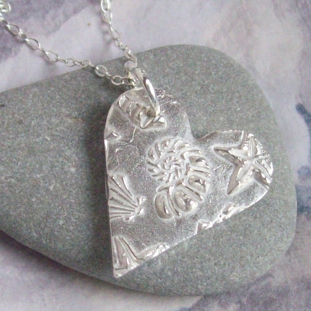 Silver Necklace - Shell Design - Artisan Silver Jewellery and Keepsakes £35.00