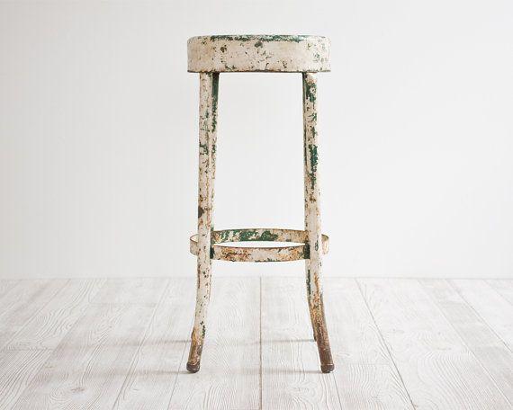 Vintage Industrial Stool Metal Chair