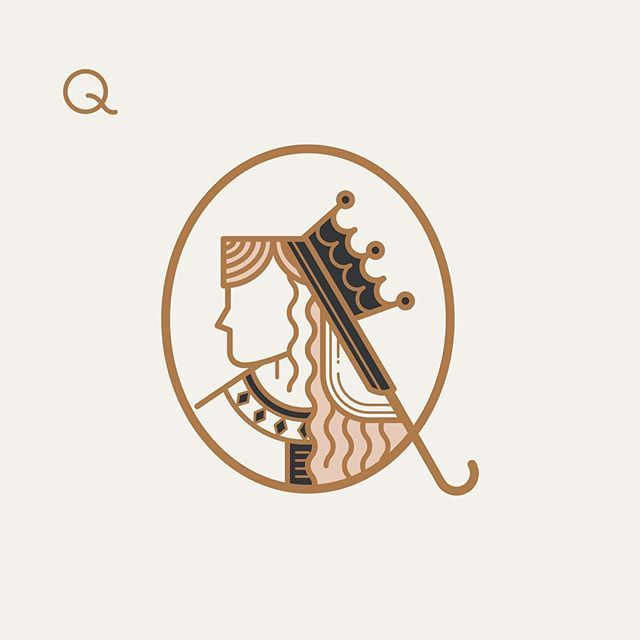 Alphabet | Q - Queen by Oddds Studio