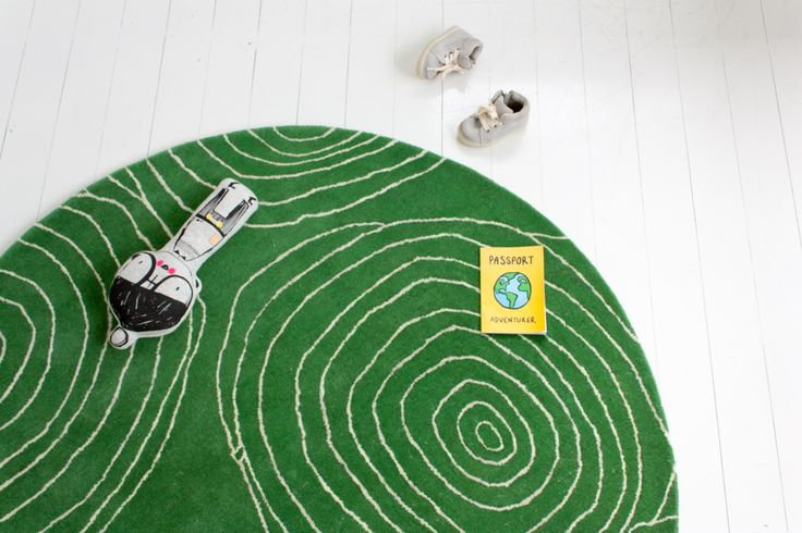 little P - 'Apple-Green Apple' rug - 100% NZ Wool