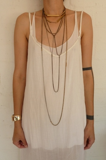 .layered necklace