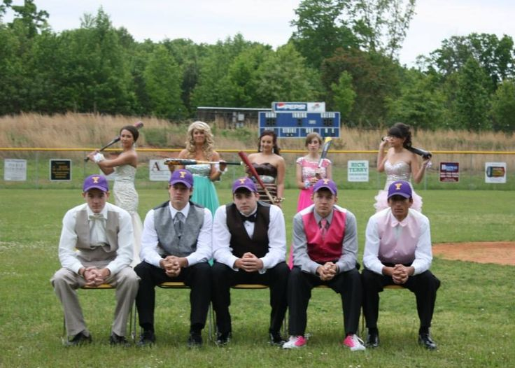 Baseball Prom Picture. Team members from the Junior Class. Can't wait to do this kind of stuff with the boys!!!