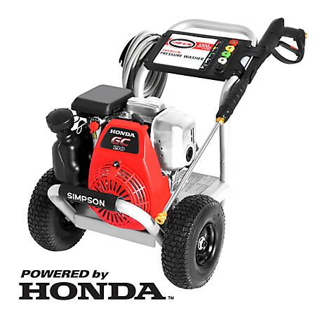 Simpson MegaShot 3,300 PSI at 2.4 GPM HONDA GC190 Cold Water Premium Residential Gas Pressure Washer, 60921 at Tractor Supply Co