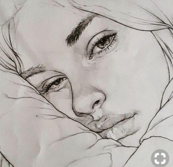 traurige Mädchen stellen das Zeichnen gegenüber – zeichnende Ideen. Besuchen Sie meinen YouTube-Kanal, um mehr über Zeichnen und Malen zu erfahren