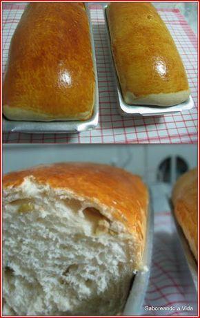 Pão de forma 2 xícaras (chá) de água morna/a 45ºC (Esquento só um pouquinho; fica quase fria!) 2/3 de xícara (chá) de açúcar granulado branco. 1 e 1/2 colher (sopa) de fermento biológico granulado seco (Coloco um envelope de 10g) 1 e 1/2 colher (chá) de sal 1/4 de xícara (chá) de óleo vegetal (soja, etc.) 6 xícaras (chá) de farinha de trigo comum. 1 gema para pincelar