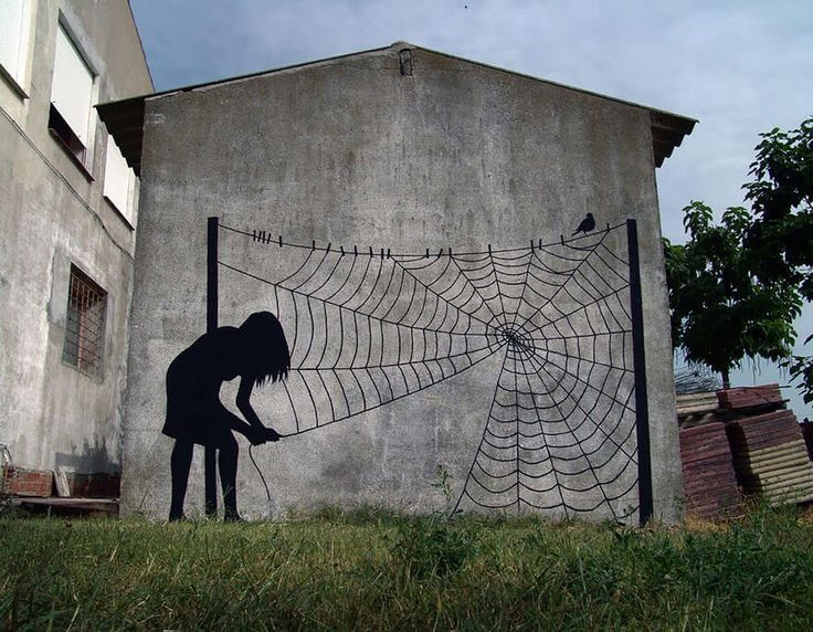 12 best Street art - Pejac images on Pinterest Urban art, Street