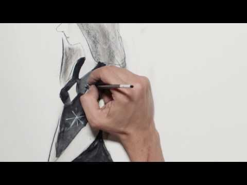 FABRIANO tutorial - Carboncino (charcoal) con Manuele Fior - YouTube
