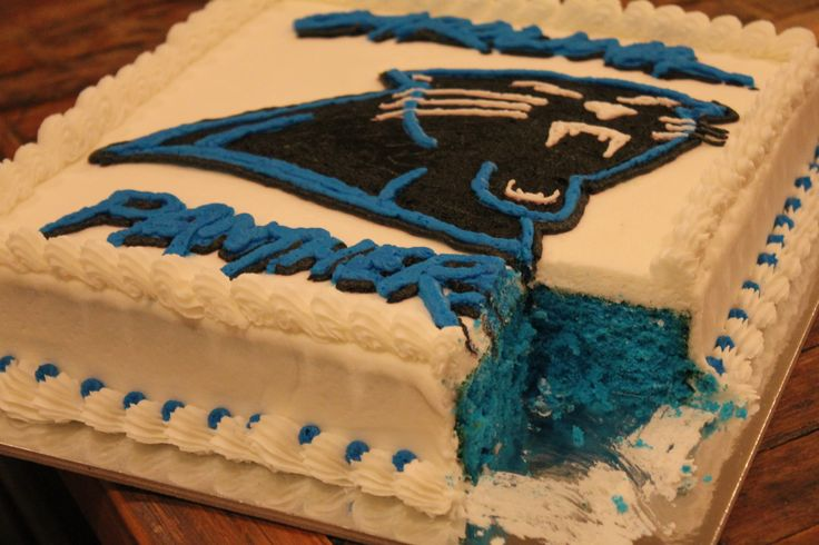 Carolina Panthers Cake-blue velvet