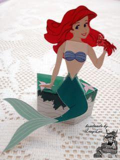 Handmade by Lissy Lou: Disney Princess 3D Paper Doll - Ariel