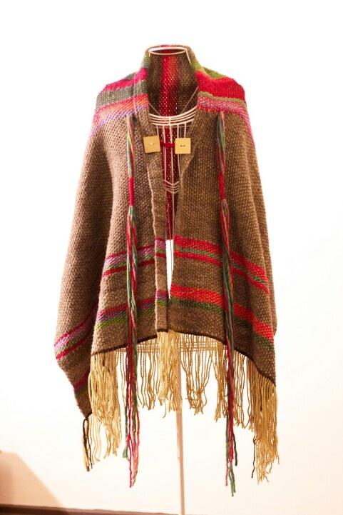 Poncho lana merino