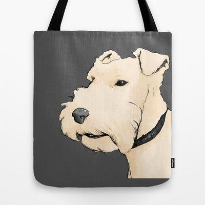 Terrier portrait Tote Bag by Turron - $22.00