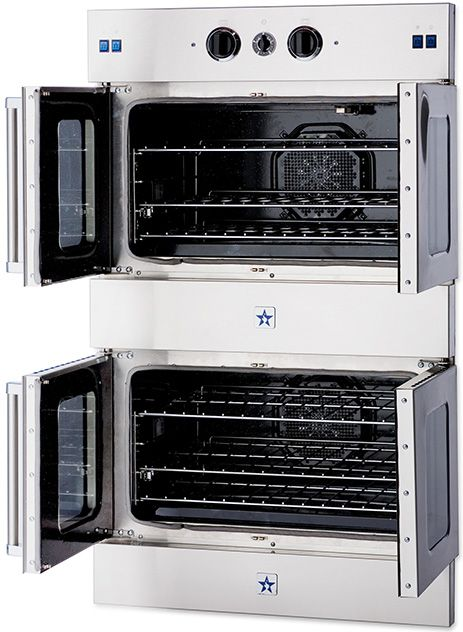 blue star french door wall oven stack available 30 holds full sheet pans x
