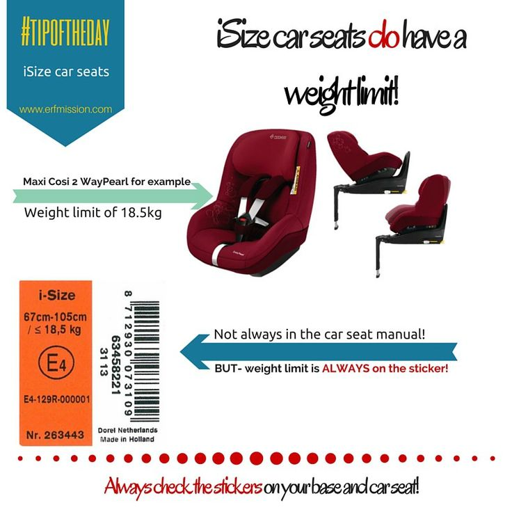 ISize Car Seats Do Have Weight Limits! By