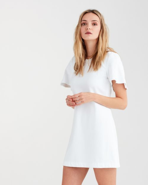 d3d481b7354 Popover Dress with Kick Sleeves in White Fashion in 2018 | Women | 7 ...