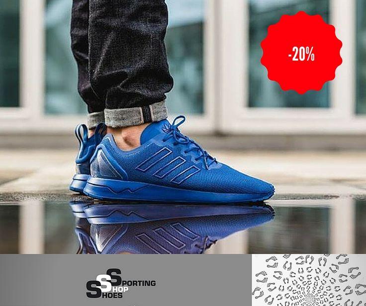 Adidas Junior (36-40) : Adidas ZX Flux Total Blue S79012