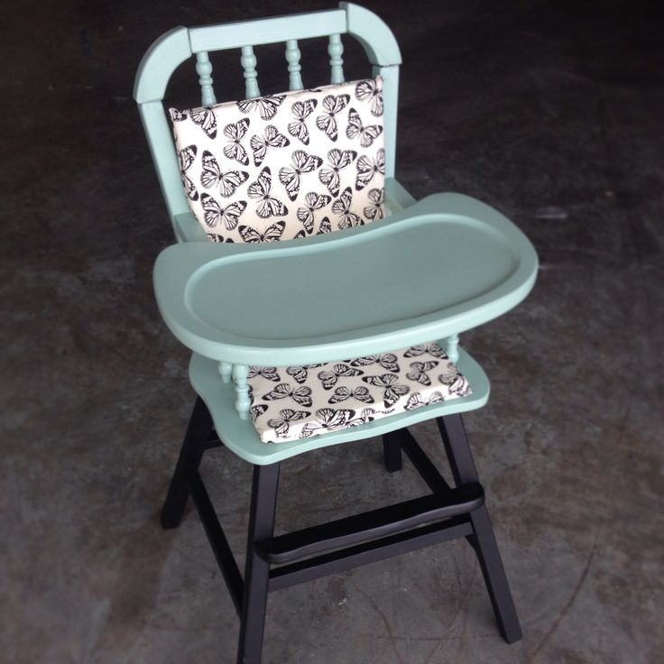 Vintage painted high chair
