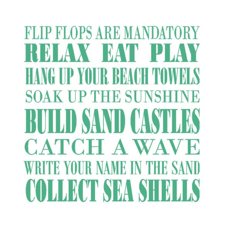 Beach Decor Decal, In this House we do, subway art wordle wall sticker vinyl lettering Household Words. $38.00, via Etsy.