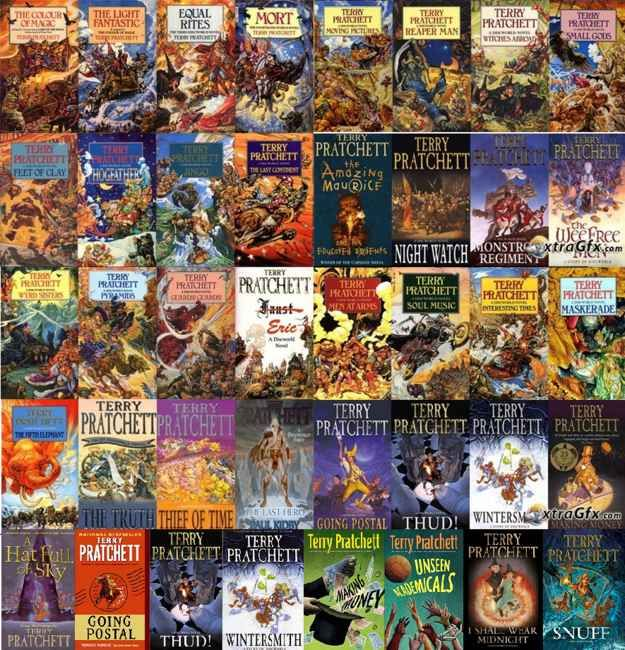 Discworld by Terry Pratchett....this is a 40 book series that I'll have to delve into