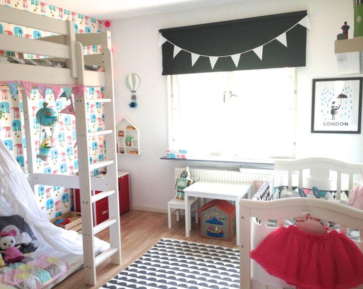 Barnrum för två: Jag håller på och testar lite med möblering i barnrummet. blogg.loppi.se/deer