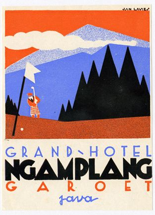 Hotel Ngamplang Java Label by Art of the Luggage Label, via Flickr