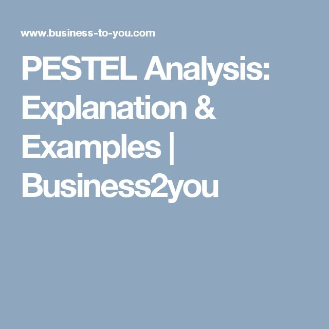 PESTEL Analysis: Explanation & Examples | Business2you