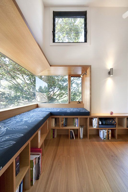 Amazing frame window-shelving-seating symbiosis | Zen Architects | Alphington House