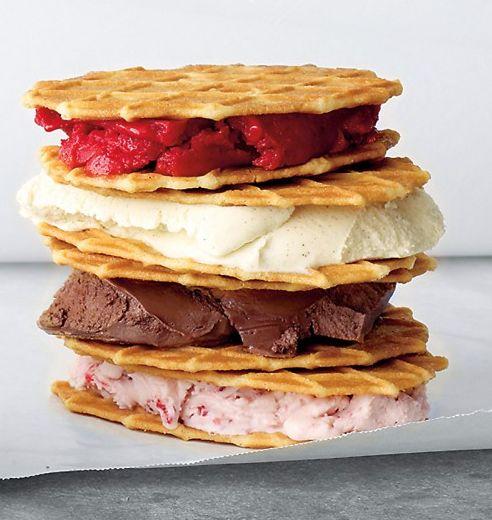 Ice cream waffle sandwich!