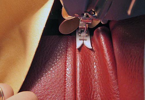 technique de couture pour faux cuir; Détails pro.