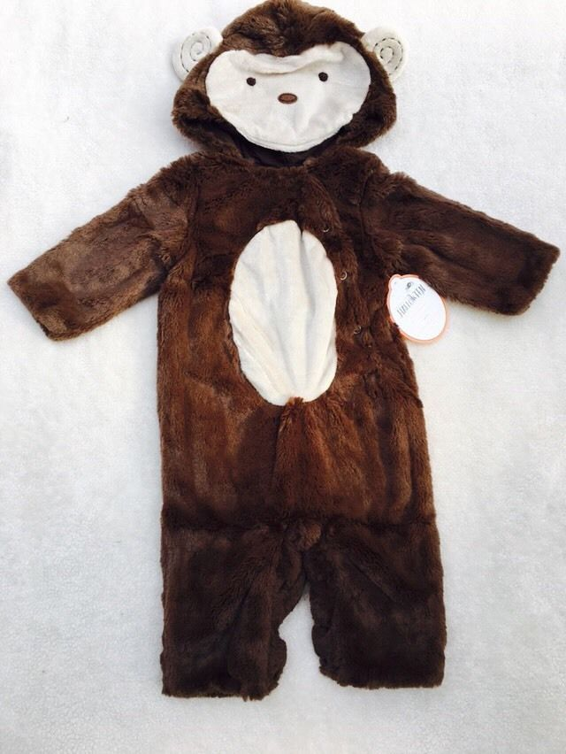 Pottery Barn Kids Baby Monkey Costume Dress Up Plush 6-12 Months NWT  | eBay