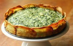 Spinazie-ricottataart met aardappelkorst ♥ Foodness - good food, top products, great health