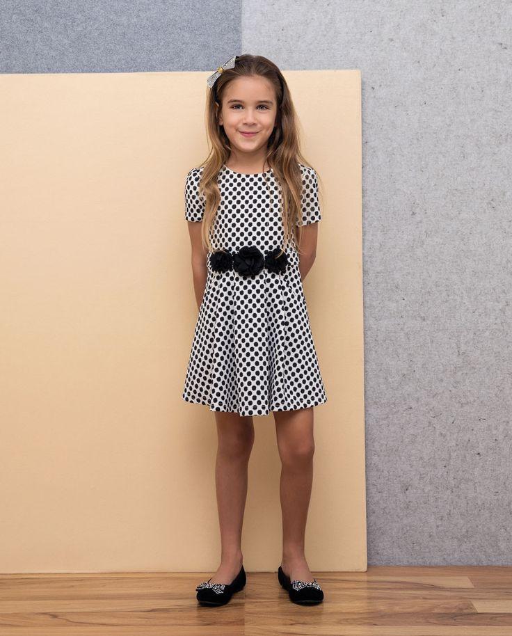 Little Girl's Polka Dot Dress - Bardot Junior