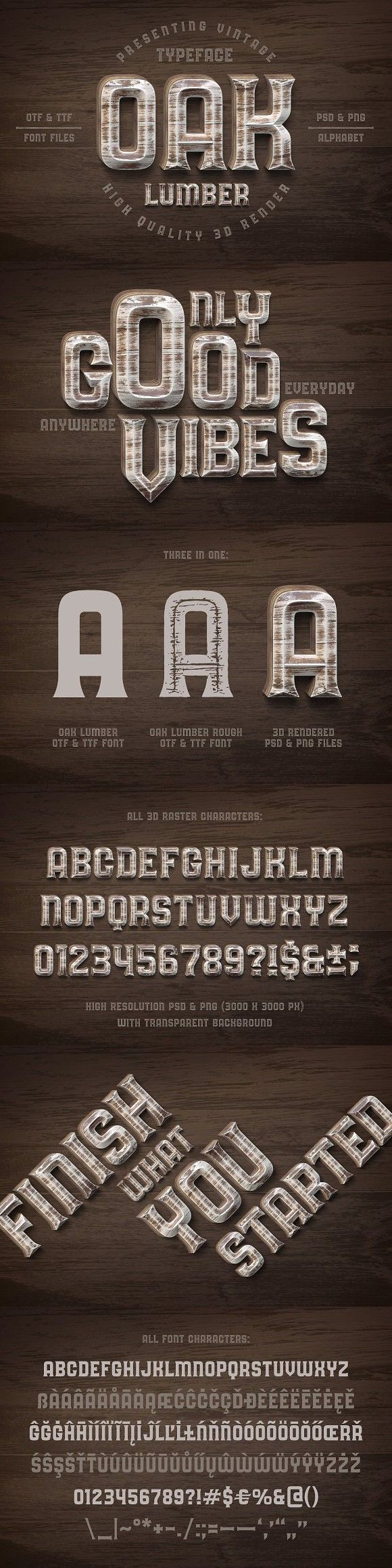 Oak Lumber Font. Display Fonts