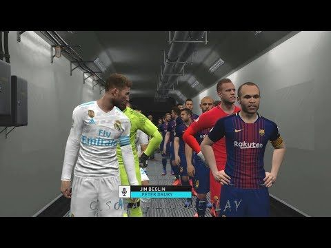 PES 2018 - Barcelona vs Real Madrid(International Cup 2017 Full Match) | PC Gameplay