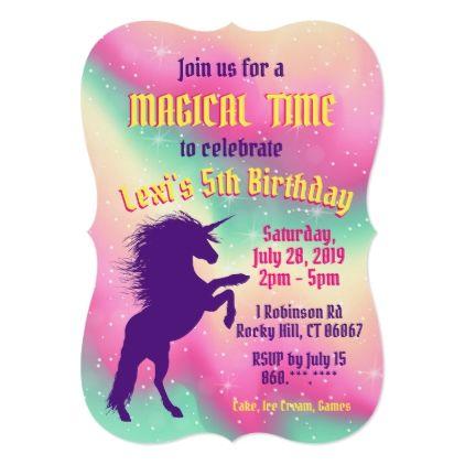 Magical Unicorn birthday party invitation | Zazzle.com