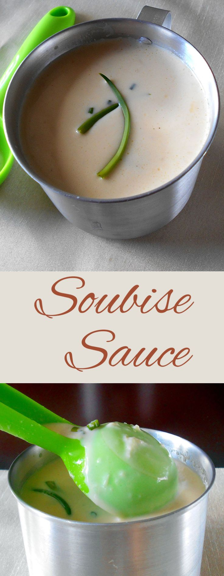 Soubise Sauce is a creamy version of Bechemel sauce.  Quick and easy to make.  Add to any French Food Recipe.