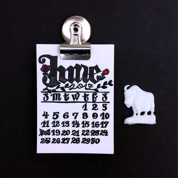 Auf Verkauf Mini 2017 Kalender Buchdruck von KisforCalligraphy