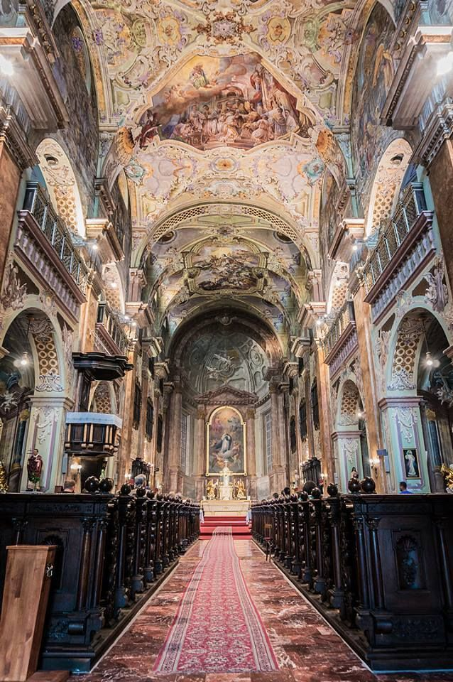 Breathtaking interior of a church in Kosice, Slovakia