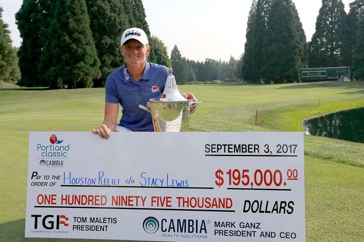 Stacy Lewis dona todo el ganador del cheque a Huracán Harvey alivio después de poner fin a 3 años de sequía winless