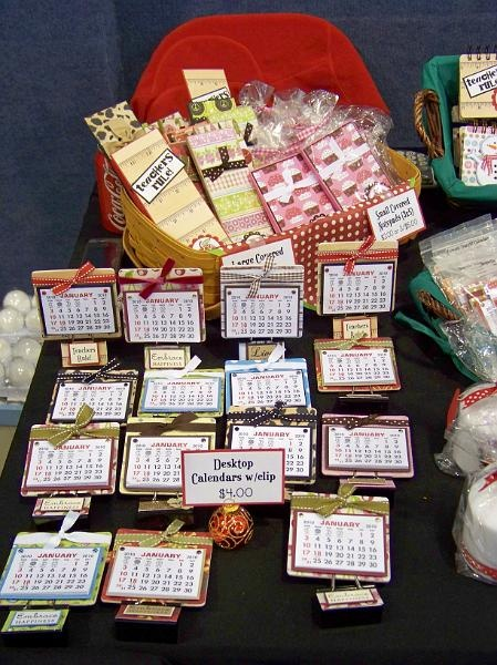 Calendar Craft Projects : Craft fair table g mini calendar idea s pinterest