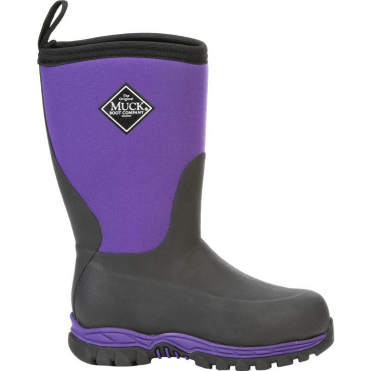Muck Boot Kids' Rugged II Outdoor Waterproof Sport Boots, Black