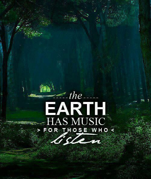 The Earth has music ... for those who listen :) #nature #quote
