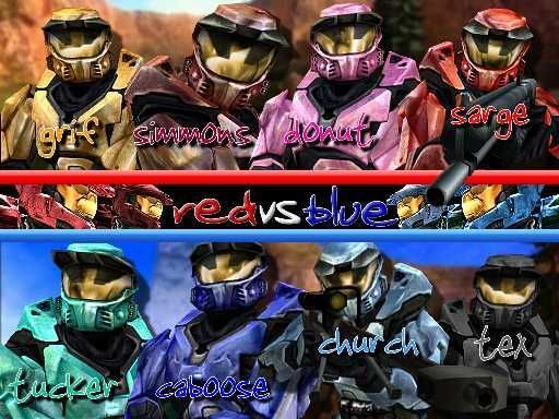 Red vs Blue: Set in the world of Halo, two ragtag armies are constantly at war over a useless military base (in the beginning). Now this story is funny, ...