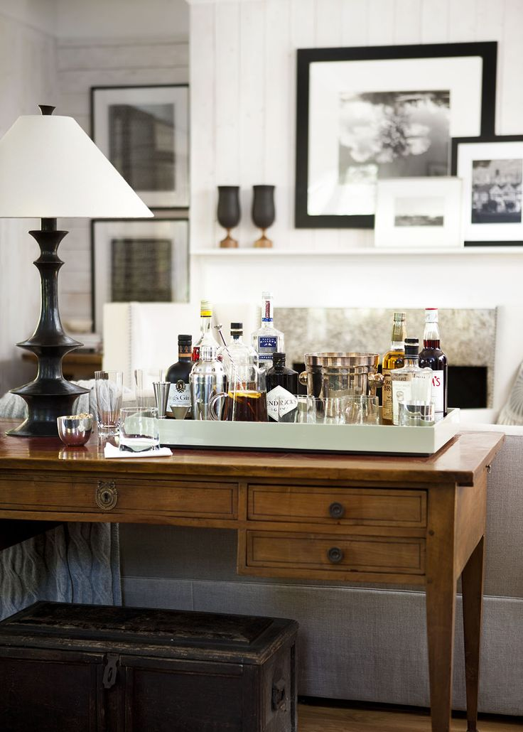 Any Surface Can Become A Bar With An Oversized Tray Styling